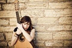 Executor novo da guitarra Foto de Stock Royalty Free