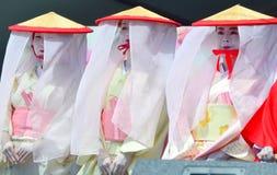 Executores culturais japoneses foto de stock royalty free