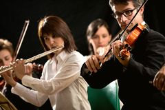 Executores da música clássica Fotos de Stock