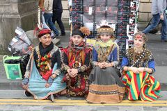 Executores no festival 2014 da franja de Edimburgo Imagem de Stock Royalty Free