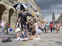 Executores no festival de Edimburgo Fotos de Stock Royalty Free