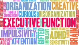 Exekutivwort-Wolke der funktions-ADHD Stockfoto