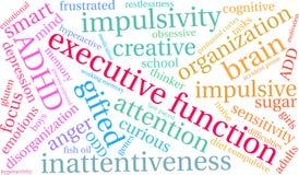 Exekutivwort-Wolke der funktions-ADHD Lizenzfreie Stockfotos