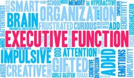 Exekutivwort-Wolke der funktions-ADHD Stockfotos