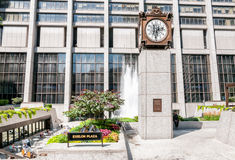 Exelon Plaza clock, Chicago Stock Images