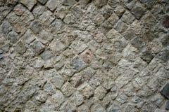 Exempel av den forntida Roman Opus Reticulatum väggen arkivbild