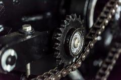 Exempel av kugghjulet och axeln för chain drev Arkivbilder