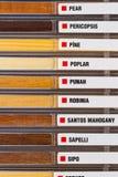 Exempel av wood texturer Arkivfoton
