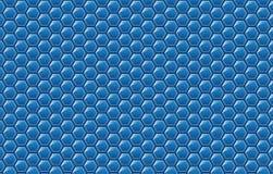 Exemplaar ruimte, abstract concept als achtergrond geometrische grafische naadloze blauwe zeshoek vector illustratie