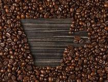Exemplaar ruimtekop koffiebonen Royalty-vrije Stock Fotografie