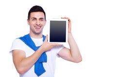 Exemplaarruimte op zijn tablet Royalty-vrije Stock Afbeelding