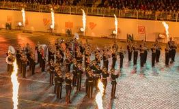 Exemplarisk militär orkester Royaltyfria Bilder