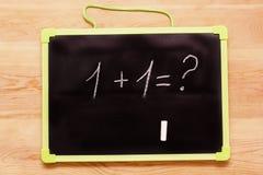 exemple d'école, écrit sur un tableau noir Image stock