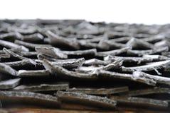 Exemple d'un toit en bois Photo stock