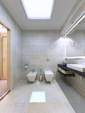 Exemple de salle de bains lumineuse Images libres de droits