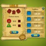 Exemple du niveau de fenêtre sélectionné pour le jeu d'ordinateur Photo libre de droits