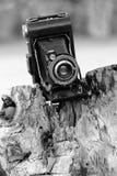 Exemple tôt du vieil appareil-photo anastigmatique de Kodak, fabriqué en série et populaire, pris 2014 Photos stock