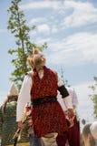 Exemples ethniques de vêtements de cavalier turc Photo stock