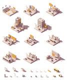 Exemples isométriques de publicité extérieure de vecteur illustration stock