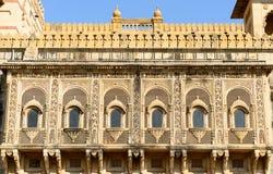 Exemplo da arquitetura indiana ricamente decorada Foto de Stock Royalty Free