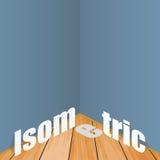 Exemplo da ilustração do estilo liso isométrico Imagem de Stock Royalty Free