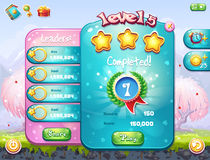 Exemplo da janela do jogo no tema do dia de Valentim Foto de Stock