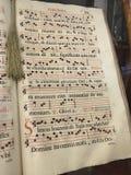 Exemplo da notação de música adiantada Fotos de Stock