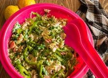 Exemplo da salada de massa Imagens de Stock