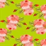 Exemplo das flores para a tela, estrutura sem emenda, Imagens de Stock