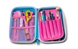 Exemplo de Stationery Pencil Box do estudante foto de stock