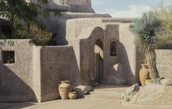 Exemplo do estilo moderno de Adobe do deserto fotos de stock