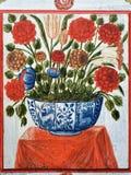 Exemplo medieval português da arte, Évora, Portugal fotos de stock