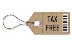 Exento de impuestos - etiqueta de la etiqueta ilustración del vector