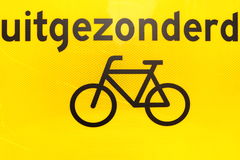 uitgezonderd fietsen Stock Images