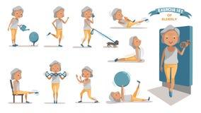 exercício ilustração royalty free