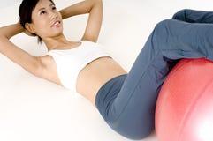 Exercício abdominal Foto de Stock