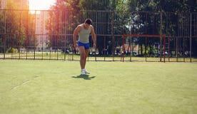 Exercício abstrato do gueto do esporte, desportista da foto do vintage Fotos de Stock Royalty Free