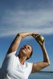 Exercício aeróbio da mulher madura Fotografia de Stock