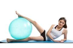 Exercício asiático da mulher imagens de stock royalty free