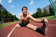 Exercício atlético imagens de stock