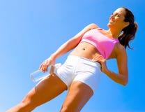 Exercício atlético da mulher fotografia de stock