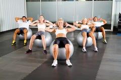Exercício com esferas da aptidão Imagem de Stock