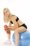 Exercício com mulher bonita Fotografia de Stock Royalty Free