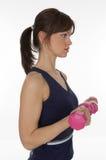 Exercício com peso Fotografia de Stock Royalty Free