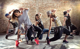 Exercício da aptidão da dança fotografia de stock royalty free