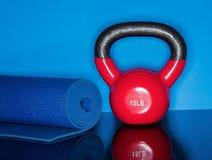 Exercício da bola da chaleira Imagem de Stock