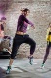 Exercício da dança imagens de stock