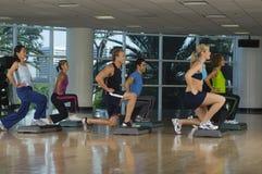 Exercício da ginástica aeróbica Imagem de Stock Royalty Free
