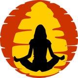 Exercício da ioga ilustração do vetor