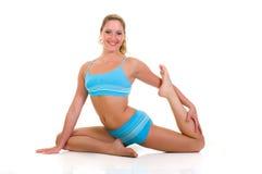 Exercício da ioga da aptidão fotografia de stock royalty free